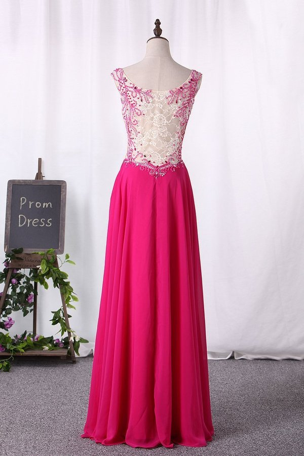 V Neck Beaded Bodice Floor Length Prom PS1S9PCH