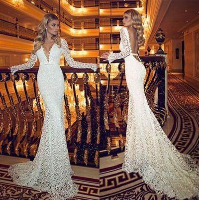 lace prom dress backless Prom Dress long prom dress elegant prom dress evening dress