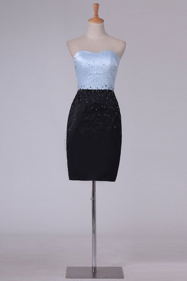 Column Sweetheart Cocktail Dresses With Beading P1YHZSFR