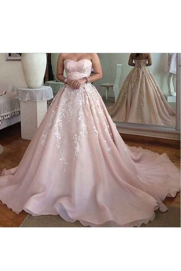 Sweetheart A Line Prom Dresses Organza With P3ZLX7J9