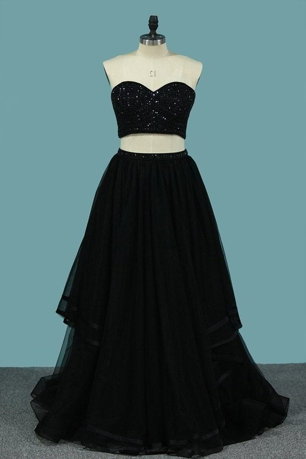Two-Piece Prom Dresses Sweetheart Beaded Bodice A PH7RCMZG