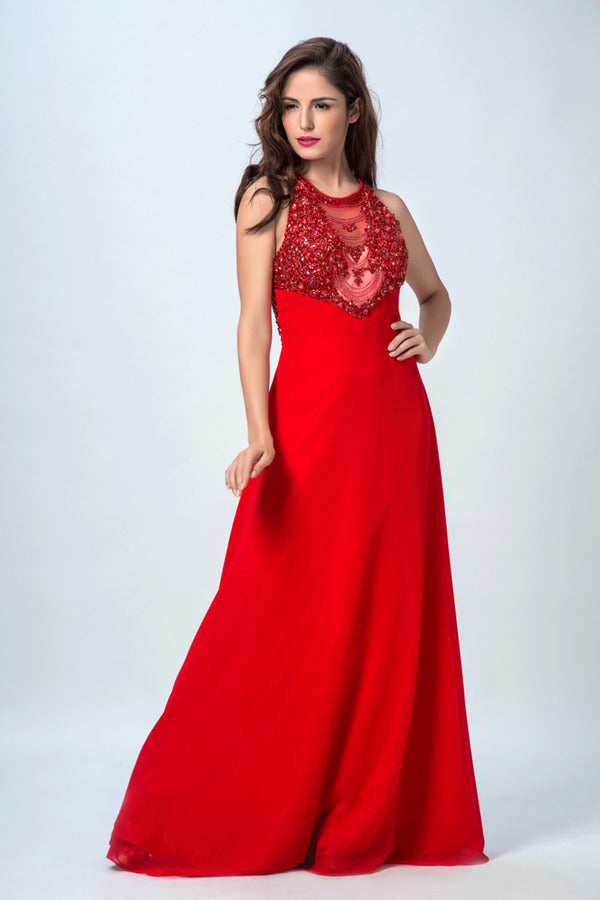 2020 Scoop Prom Dresses A Line Chiffon With P39ETR7N
