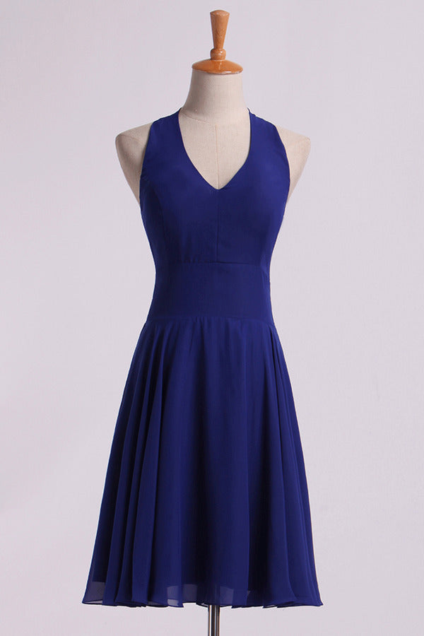 Simple Homecoming Dresses V-Neck A Line PZD9A1C5