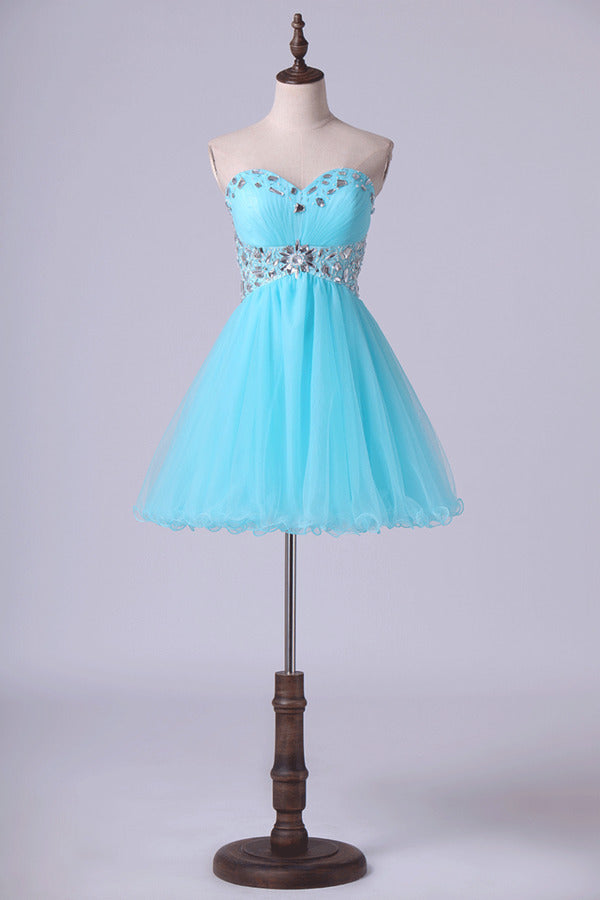 Homecoming Dresses A Line Sweetheart With Beading&Sequins PX48B7NJ