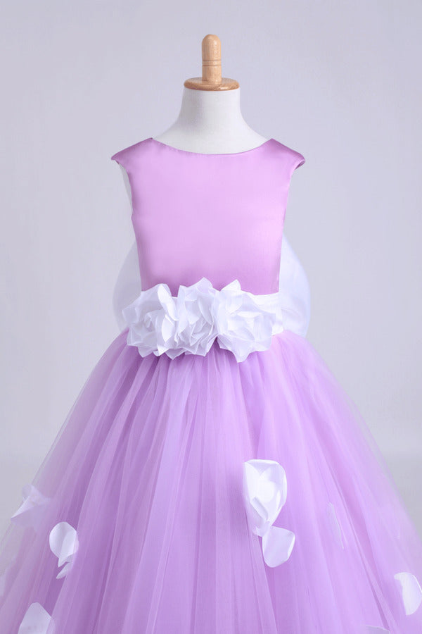 Cute A-Line Ankle-Length Flower Girl Dresses With PQA6PPJ9