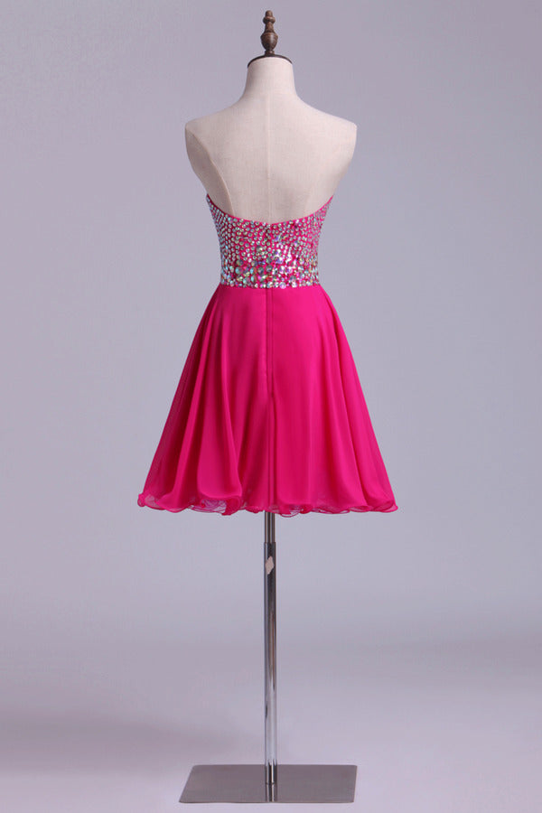 Beaded Sweetheart Short Line/Princess Homecoming Dresses PS78BDM1