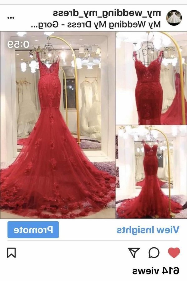 Spaghetti Straps Tulle Mermaid Prom Dresses With PFR1ETAL