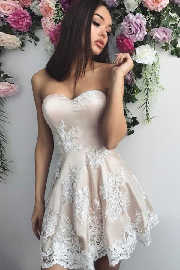 Sweetheart A Line Homecoming Dresses P98Q94H8