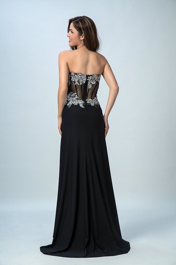 Black Prom Dresses Mermaid/Trumpet Black Sweetheart Chiffon With PAKTNH77