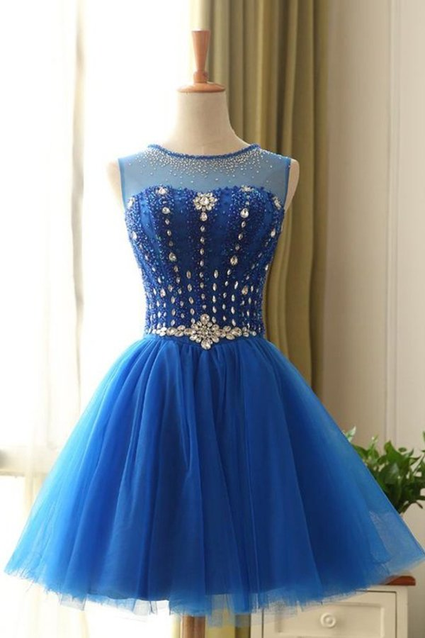 2020 Scoop Homecoming Dresses A Line Tulle With PQJ5YXAB