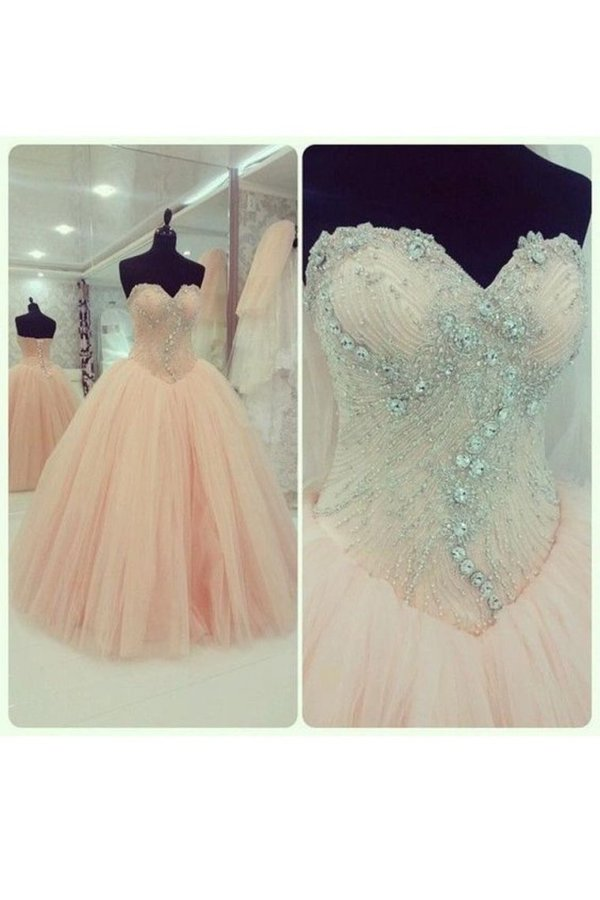 Tulle Sweetheart With Beading Quinceanera Dresses PYZXGHMD