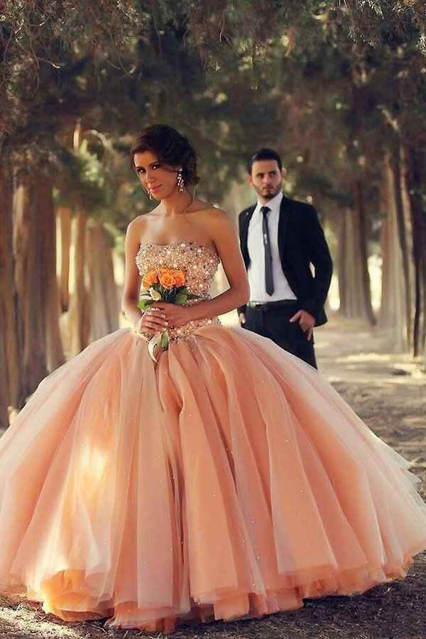 Sweetheart Ball Gown Wedding/Quinceanera Dresses Beaded PCTQYPJ5