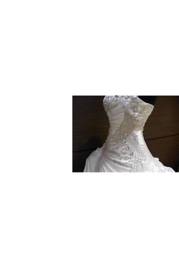 Wedding Dresses Sweetheart Taffeta With Ruffles And Beads P7JYJYR1