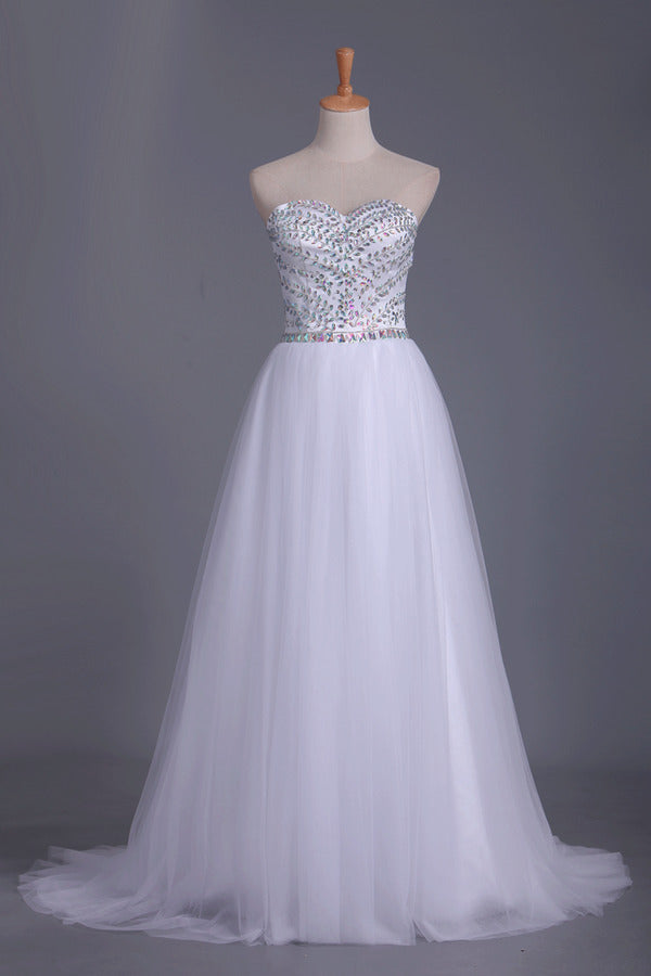 Sweetheart Prom Dress Beaded Bodice A P11AQTRF