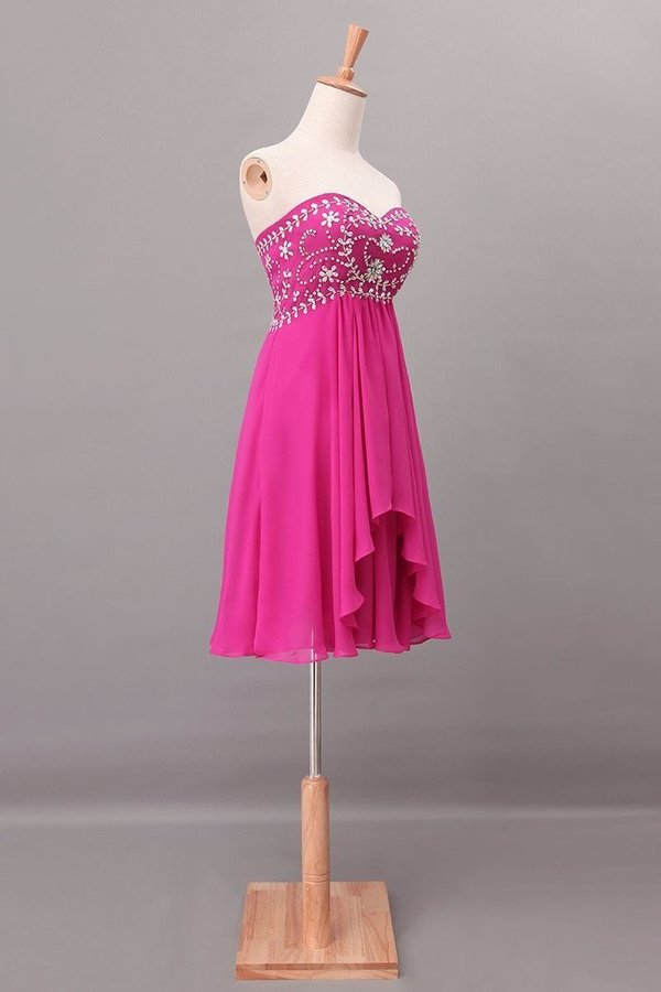 Splendid A Line Short/Mini Homecoming Dresses Beaded Bodice With Layered PB9KP6G1