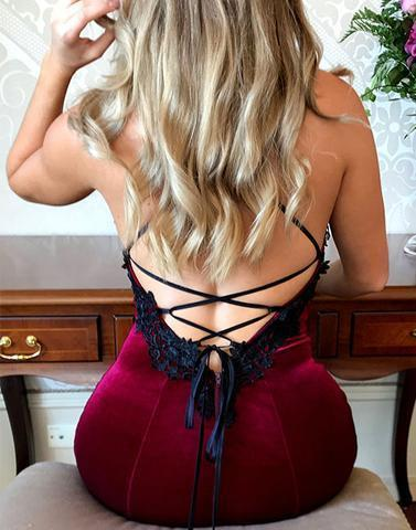 Sexy Backless Dark Green Mermaid Spaghetti Straps Sleeveless Custom Cheap Prom Dresses