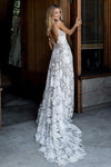 Princess A-Line Spaghetti Straps Sleeveless Ivory Backless Lace Appliques Wedding Dresses