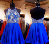 Royal Blue Sparkle Beautiful Chiffon Fashion Beading Sweet 16 Dress