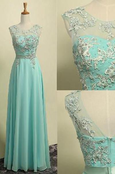 New Style Prom Dresses Chiffon Lace Prom Dress For Teens Backless Evening Dress Formal Dresses