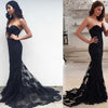 Mermaid Sexy Sweetheart Strapless Lace Sleeveless Popular Long Evening Dresses