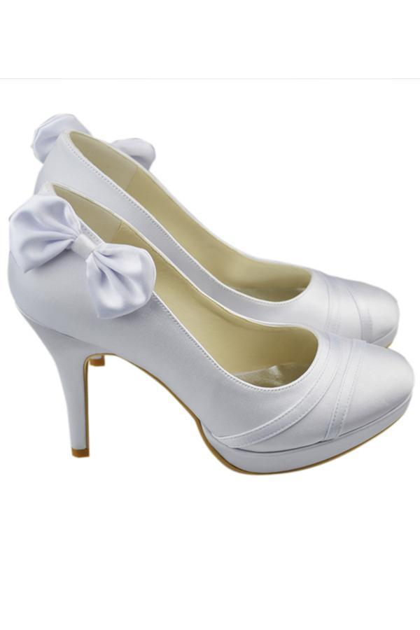 High Heel Ivory Elegant Comfy Simple Wedding Shoes