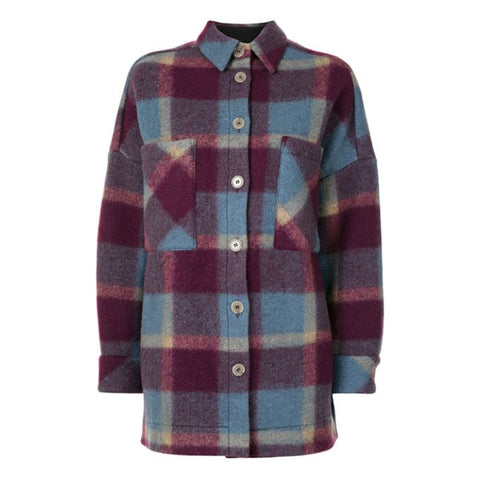 IRO Backpa Oversized Flanell Plaid Shirt Jackenmantel | Zoom Boutique