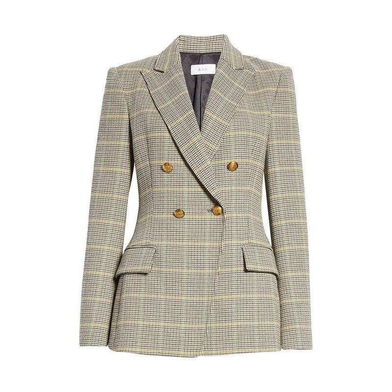 A.L.C. Sedgwick Double Breasted Houndstooth Blazer RRP$650 0 Zoom Boutique Store blazer A.L.C. Sedgwick Double Breasted Houndstooth Blazer | Zoom Boutique