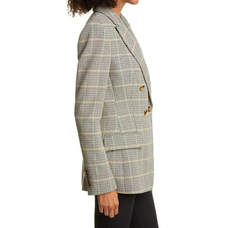 A.L.C. Sedgwick Double Breasted Houndstooth Blazer RRP$650 Zoom Boutique Store blazer A.L.C. Sedgwick Double Breasted Houndstooth Blazer | Zoom Boutique