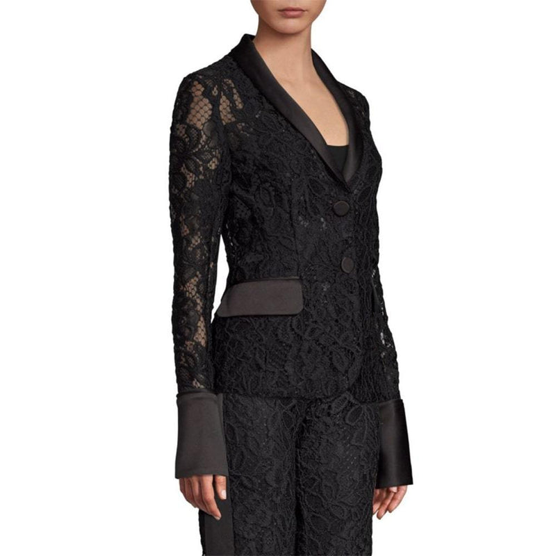 Alexis Bonis V Neck Sheer Lace Blazer RRP$546 Zoom Boutique Store coat Buy Alexis Bonis V Neck Sheer Lace Blazer | Zoom Boutique