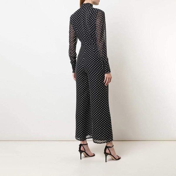 ALEXIS Davinia Polka Dot Print Bow Neck Jumpsuit RRP$396 Zoom Boutique Store jumpsuit ALEXIS Davinia Polka Dot Bow Neck Jumpsuit | Zoom Boutique