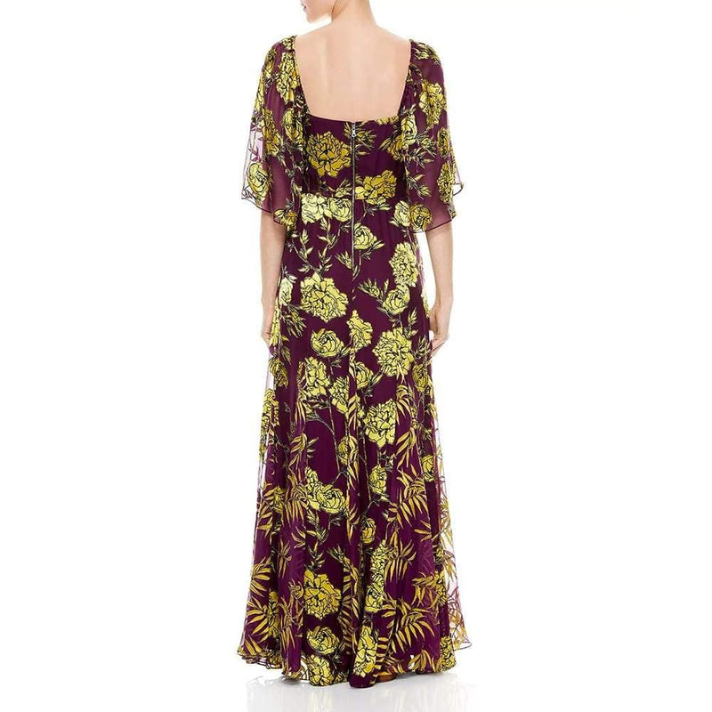 Alice + Olivia Clarine Floral Silk Blend Maxi Dress Zoom Boutique Store dress Alice + Olivia Clarine Floral Silk Blend Maxi Dress | Zoom Boutique