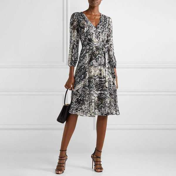 Alice + Olivia Coco Burnout Midi Dress RRP$440 - Zoom Boutique Store