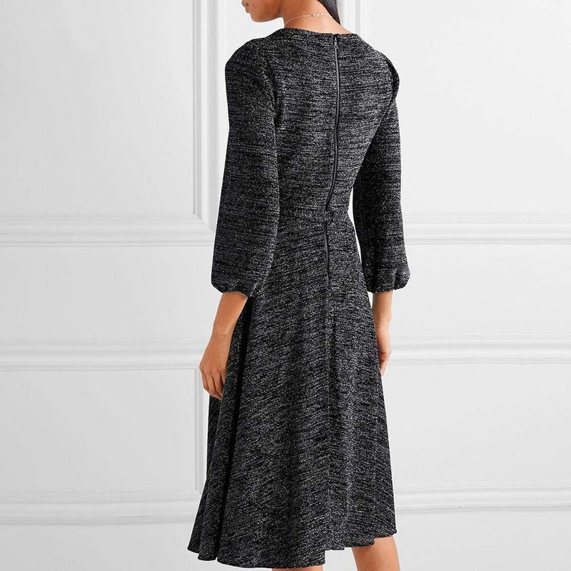 Alice + Olivia Coco Plunging Stretch Lurex Midi Dress RRP$350 Zoom Boutique Store dress Alice + Olivia Coco Plunging Stretch Lurex Midi Dress | Zoom Boutique