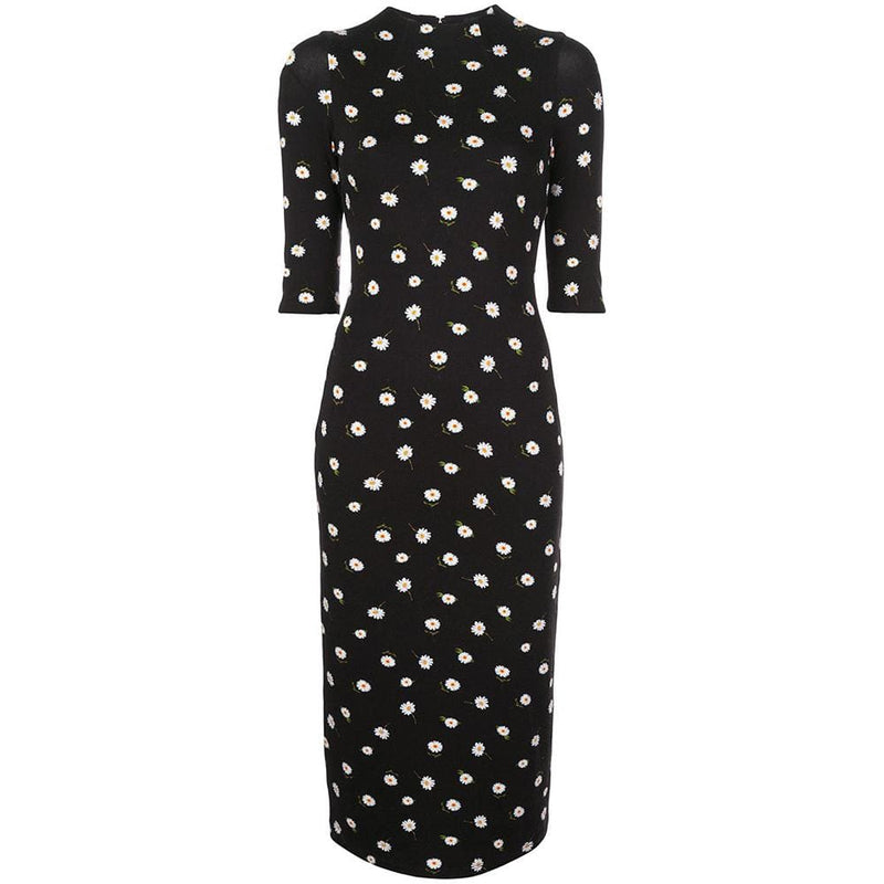 Alice + Olivia Delora Daisies Fitted Jersey Midi Dress RRP$330 - Zoom Boutique Store