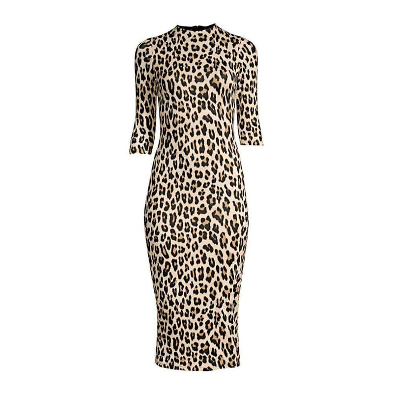 Alice + Olivia Delora Fitted Jersey Bodycon Midi Dress RRP$330 - Zoom Boutique Store