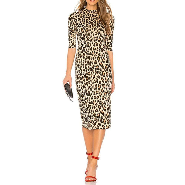 Alice + Olivia Delora Fitted Jersey Bodycon Midi Dress $330 Zoom Boutique Store dress