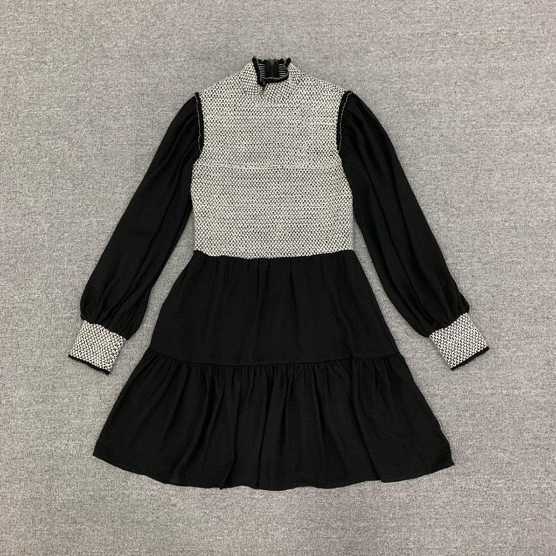 Alice + Olivia Elvira Smocked Bodice Tiered Mini Dress Zoom Boutique Store dress Alice + Olivia Elvira Smocked Bodice Tiered Mini Dress | Zoom Boutique