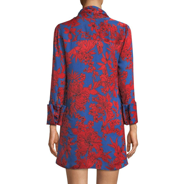 Alice + Olivia Gwenda Floral Paneled Tunic A Line Crepe Dress RRP$490 Zoom Boutique Store dress Alice + Olivia Gwenda Floral Paneled Tunic A Line Dress| Zoom Boutique