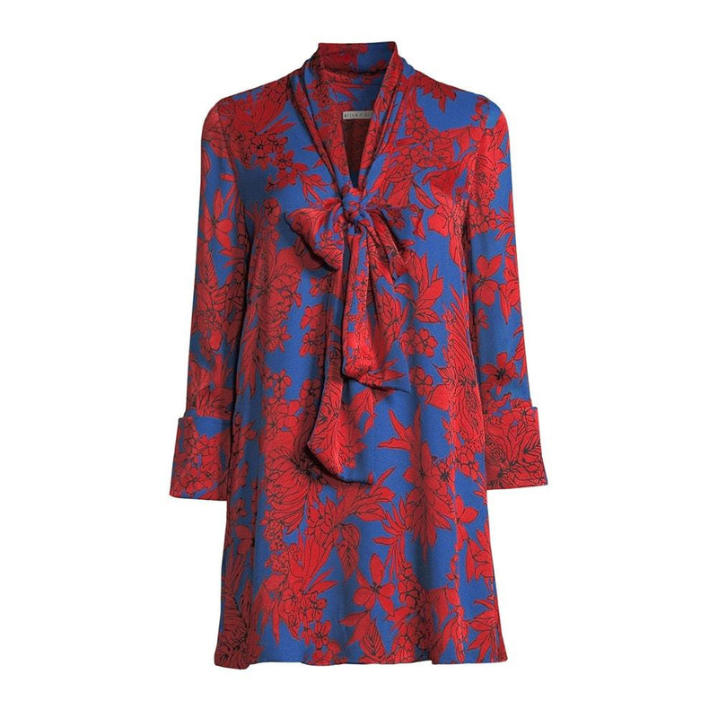 Alice + Olivia Gwenda Floral Paneled Tunic A Line Crepe Dress RRP$490 XS Zoom Boutique Store dress Alice + Olivia Gwenda Floral Paneled Tunic A Line Dress| Zoom Boutique