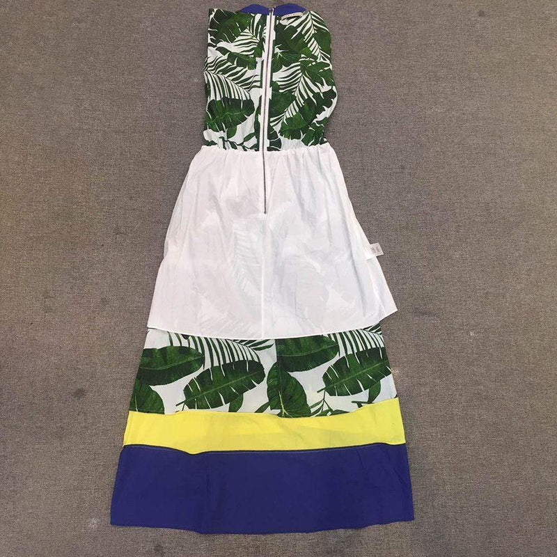 Alice + Olivia Margot Leaf Print Cotton Poplin Midi Dress Zoom Boutique Store dress Alice + Olivia Margot Leaf Print Cotton Poplin Dress | Zoom Boutique