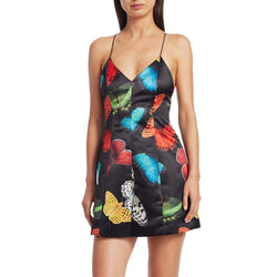 Alice + Olivia Tayla Butterfly Paneled Mini Dress $295 - Zoom Boutique Store