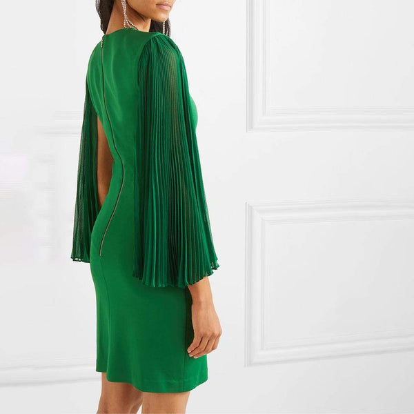 Alice + Olivia Zaya Pleated Sleeve Cocktail Dress $375 Zoom Boutique Store dress