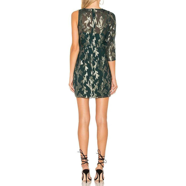 BCBG Max Azria Asymmetric One Shoulder Wrap Dress $298 Zoom Boutique Store dress