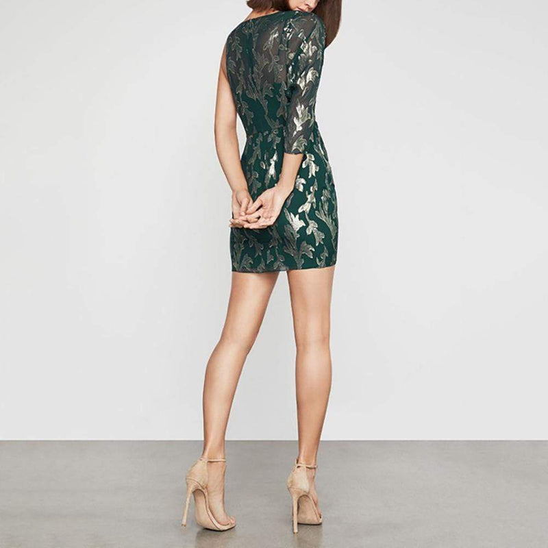 BCBG Max Azria Asymmetric One Shoulder Wrap Dress RRP$298 - Zoom Boutique Store