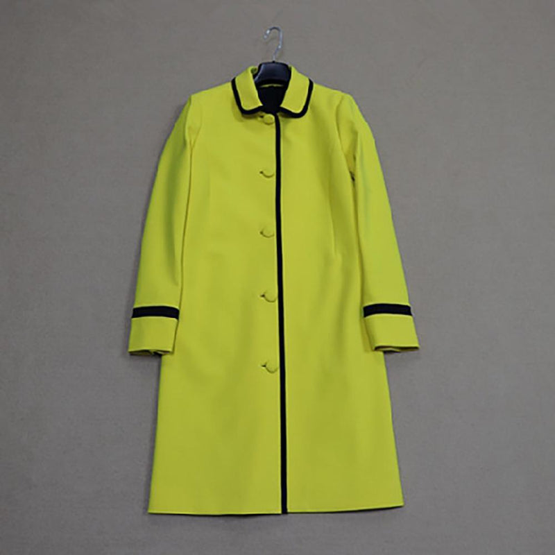 Carlisle Amarillo Yellow Single Breasted Long Coat $748 - Zoom Boutique Store