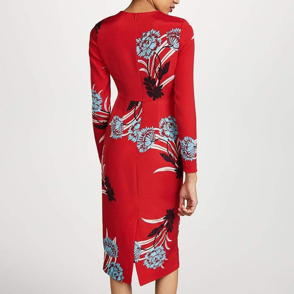 Diane von Furstenberg Crew Neck Tailored Dress $428 Zoom Boutique Store dress