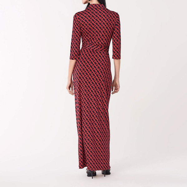 Diane von Furstenberg DVF Abigail Silk Jersey Maxi Wrap Dress $698 Zoom Boutique Store dress