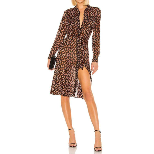Diane von Furstenberg DVF Andi Convertible Shirt Dress $448 Zoom Boutique Store dress