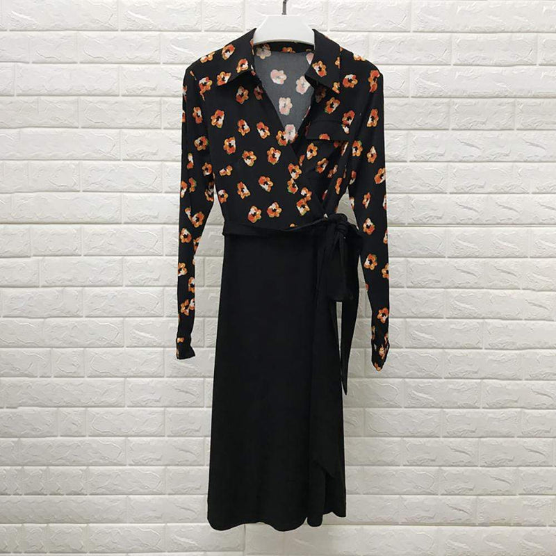 Diane von Furstenberg DVF Angelina Collared Crepe Wrap Dress RRP$348 - Zoom Boutique Store