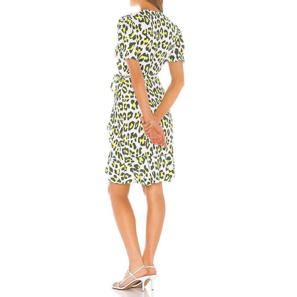 Diane von Furstenberg DVF Emilia Ruffle Crepe Wrap Dress $248 Zoom Boutique Store dress